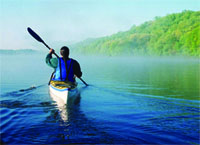 Canoing on the Housatonic River in Litchfield Hills
