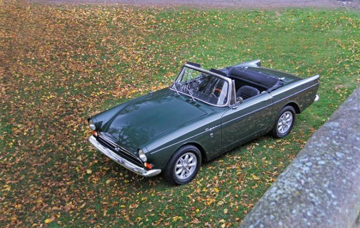 "This 1966 Sunbeam Tiger, with a hot 289-hp Ford V8 engine, was the favorite ride of Andy Rooney, the famous ""60 Minutes"" TV commentator will be shown at the Greenwich Concours.  Photo by Russ Rocknak"