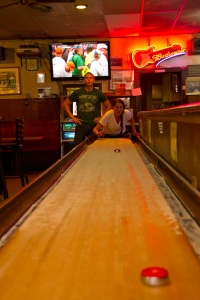 Table Shuffleboard at Bruce Park Grill by Mike Harris