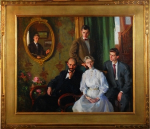 Portrait of the Hirschberg/Nelson family by George Laurence Nelson
