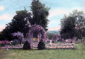 """Garden of Margaret Hicks Gage, Litchfield Garden Club Archives, Litchfield Historical Society, Helga J. Ingraham Memorial Library."""
