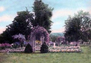 """Garden of Margaret Hicks Gage, Litchfield Garden Club Archives, Litchfield Historical Society, Helga J. Ingraham Memorial Library."""