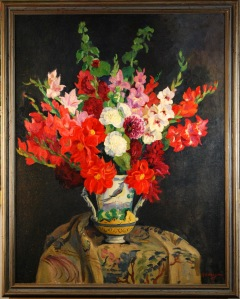 Floral painting by Nelson, Kent Historical Society
