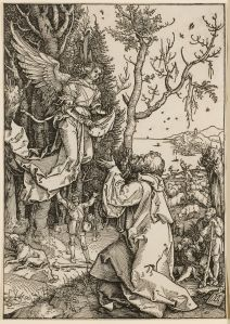 Joachim and the Angel ca. 1504 Albrecht Dürer (German, 1471-1528) Joachim and the Angel, ca. 1504 Woodcut From The Life of the Virgin Collection of Dr. Dorrance T. Kelly