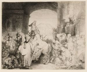 The Triumph of Mordecai Rembrandt Harmensz. van Rijn (Dutch, 1606-1669) The Triumph of Mordecai, ca. 1641 Etching and drypoint Collection of Dr. Dorrance T. Kelly