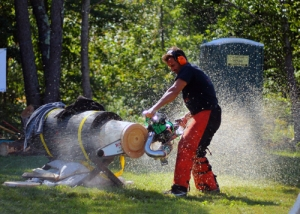 Chain Saw Demo - courtesy Goshen Fair