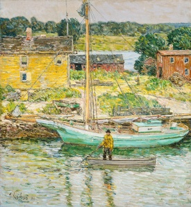 Hassam_Sloop Childe Hassam (American, 1859 – 1935) Oyster Sloop, Cos Cob, 1902 Oil on canvas National Gallery of Art, Washington, Ailsa Mellon Bruce Collection, 1970.17.100