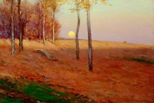 _Crane_Harvest Moon  Bruce Crane, (American, 1857-1937)