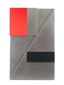 Orthogonal_Construction_15,_2010_-_Acrylic_on_Stainless_Steel_48_X_30_in