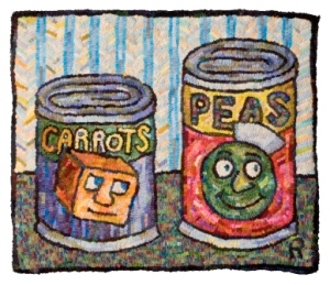Roz Chast Peas and Carrots Textile © Roz Chast
