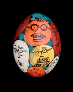 Roz Chast Painted Egg © Roz Chast