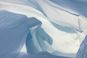 Snow Folds, Scott Base Pressure Ridges Photograph by Diane Tuft