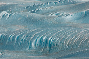 Wind Formation, Victoria Lower Glacier. Photograph by Diane Tuft