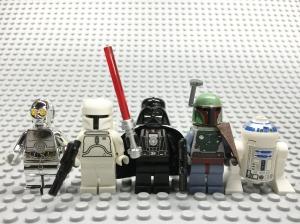 lego star wars minifigs.Bill Probert.2015