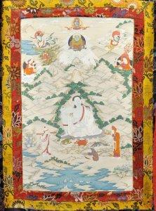 1846003 Tibetan Thangka depicting Milarepa