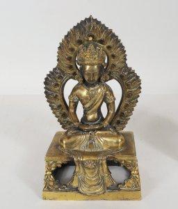 1848004 Chinese Gilt Bronze Amitayus Buddha