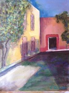 Street Scene  by Carol Ann O'toole  pastel