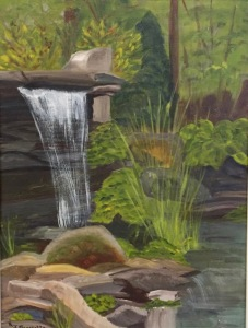 Waterfall by Roz Benedetto  Oil