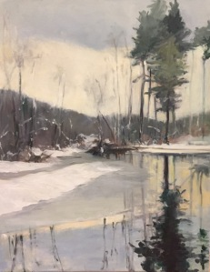 Winter Marsh by Maryellen Furse  Oil