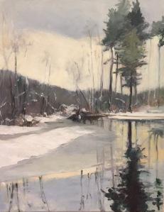 Winter Marsh by Maryellen Furse  Oil