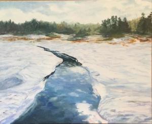 Winter Creek by Sandy Dolensky  Oil